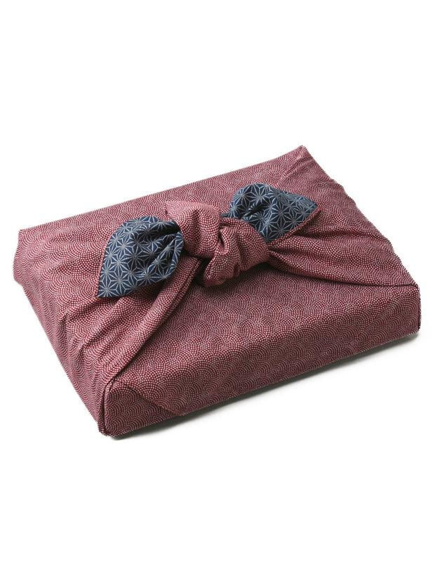 Red Samekomon Reversible Furoshiki Gift Wrapping