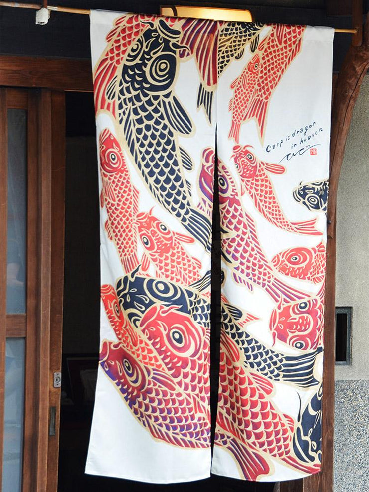Koi Noren Curtains Close-Up