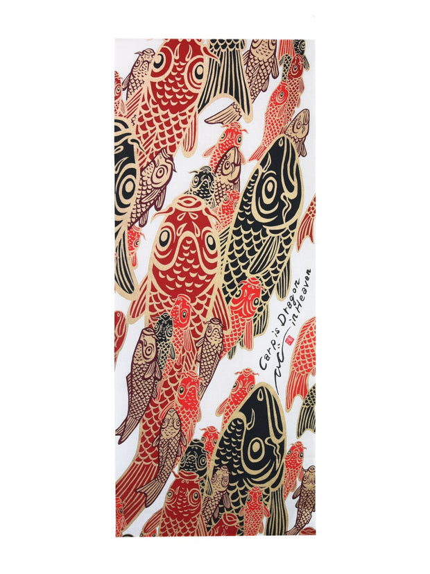 Red Koi Tenugui Towel