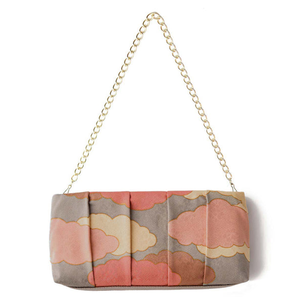 Kyo-Yuzen Silk Clutch in Rose