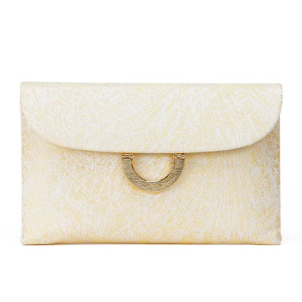 Kiku Silk Brocade Clutch Front