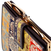 Koge Silk Brocade Leather Clasp Wallet Clasp
