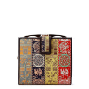 Koge Silk Brocade Leather Clasp Wallet Front