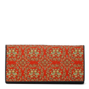 Oshidori Silk Brocade Leather Wallet
