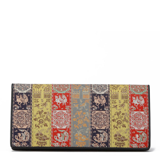 Koge Silk Brocade Leather Wallet