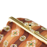 Tempyo Silk Brocade Travel Makeup Bag Clasp