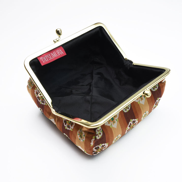 Tempyo Silk Brocade Travel Makeup Bag Interior