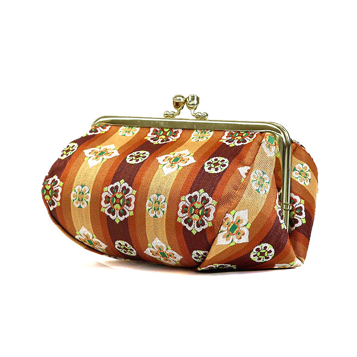 Tempyo Silk Brocade Travel Makeup Bag Side