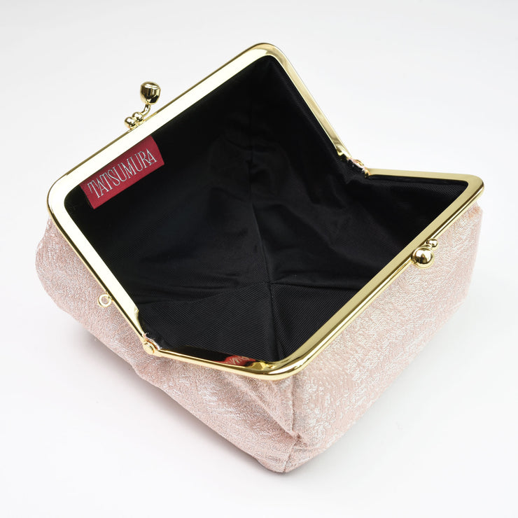 Kiku Silk Brocade Travel Makeup Bag Interior
