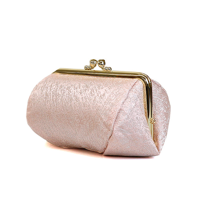 Kiku Silk Brocade Travel Makeup Bag Side