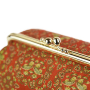 Oshidori Silk Brocade Travel Makeup Bag Metal Clasp
