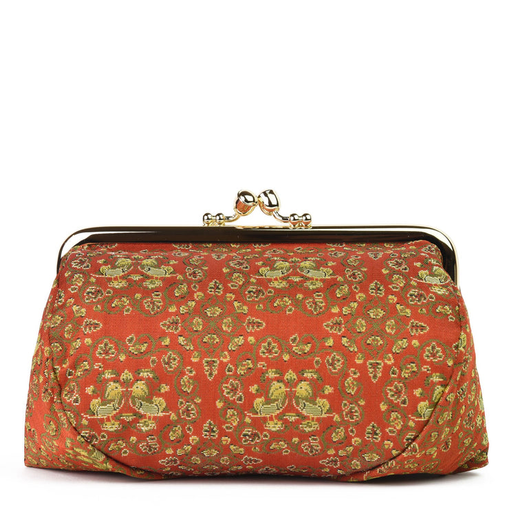 Oshidori Silk Brocade Travel Makeup Bag