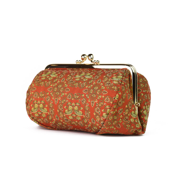 Oshidori Silk Brocade Travel Makeup Bag Side