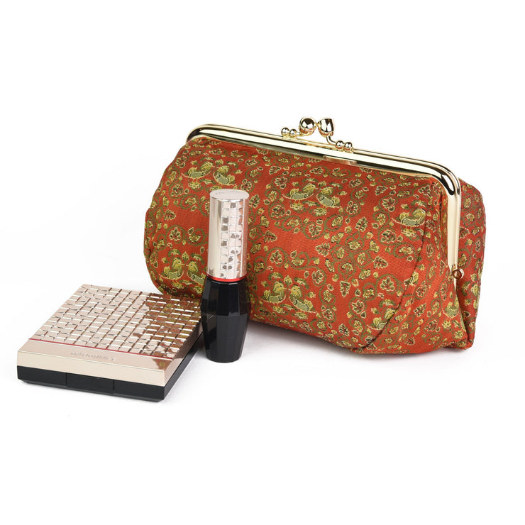 Oshidori Silk Brocade Travel Makeup Bag Cosmetics