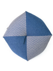 Seigaiha Blue Ojami Zabuton Cushion