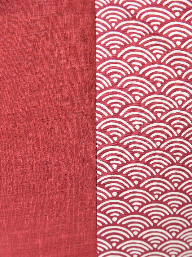 Kyoto Red Ojami Zabuton Cushion Cotton Fabric