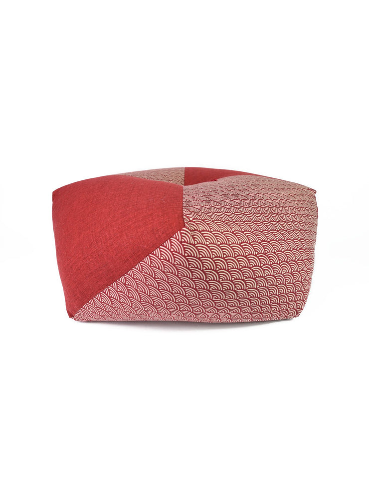 Kyoto Red Ojami Thick Zabuton Cushion