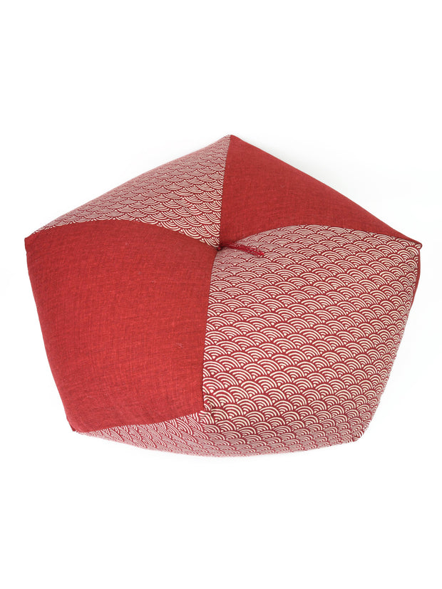 Kyoto Red Ojami Zabuton Cushion