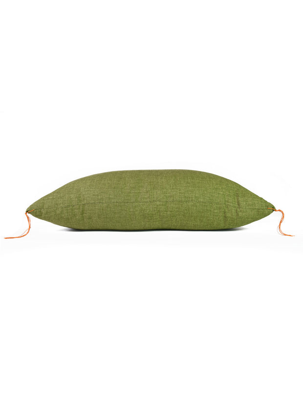 Matcha Green Zabuton Cushion Side