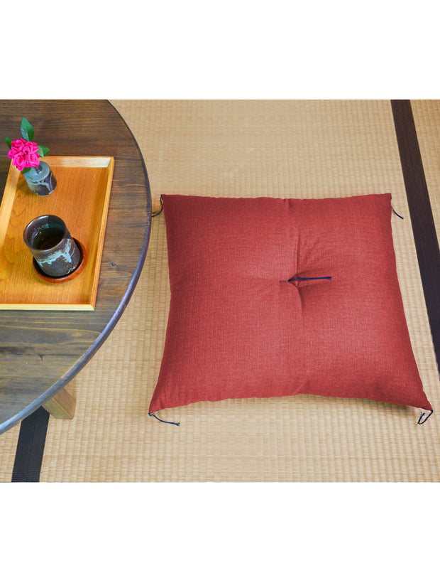 Kyoto Red Zabuton Cushion