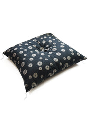 Shibori Black Zabuton Cushion