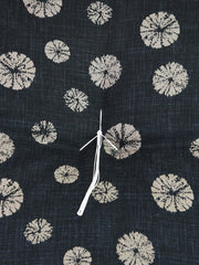 Shibori Black Zabuton Cushion Center Stitch