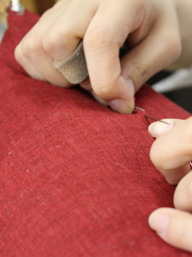 Sewing Kyoto Red Zabuton Cushion