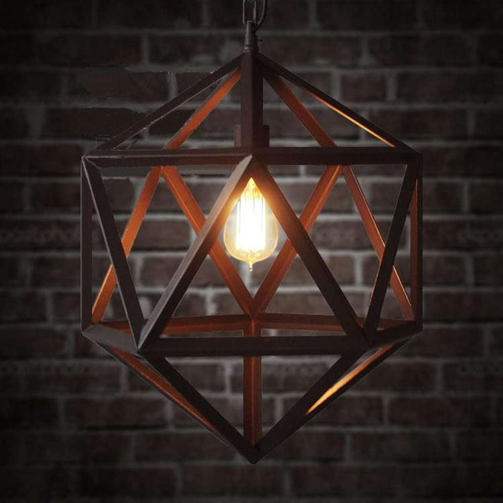 Polyhedron Large Pendant Light Fixture - Bulb Included