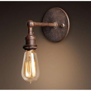 Edison Vintage Light Sconce Bulb Included Weathered Rust