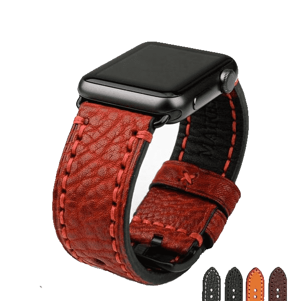 the AODH | Leather Apple Watch Band | 42mm 38mm / 44mm 40mm
