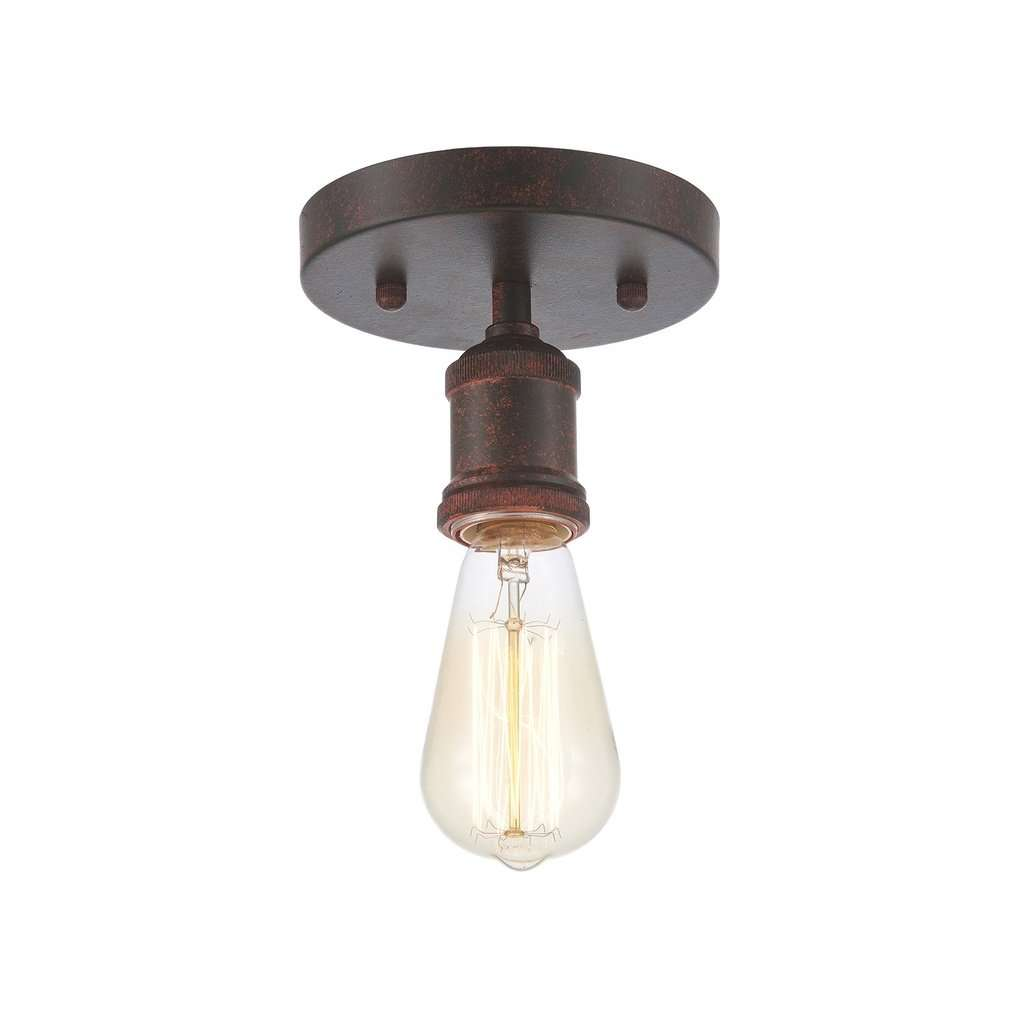 Edison Vintage Ceiling Light  Bulb Included Weathered Rust