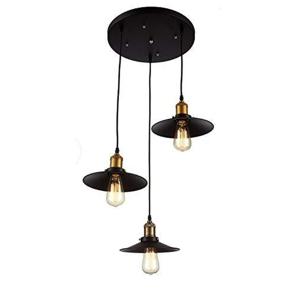 Edison 3 Pendant Light Fixture - Bulbs Included