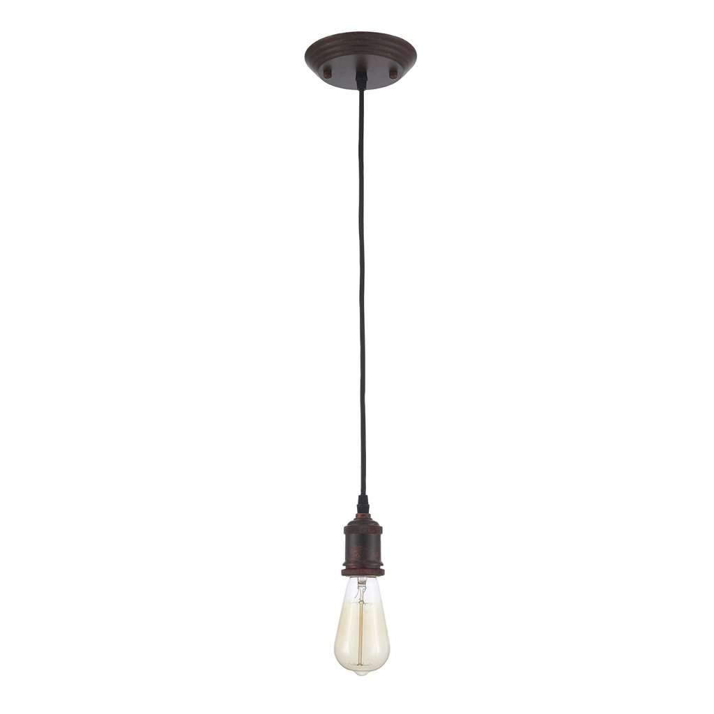 Edison Vintage Ceiling Light Bulb Included, Weathered Rust