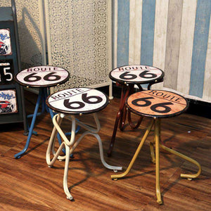 Hand Made Industrial Vintage Route 66 Barstools