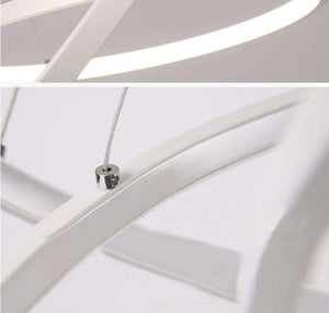 Modern Floating LED Pendant Chandelier