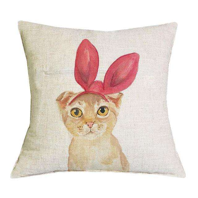 Hipster Cat Throw Pillows
