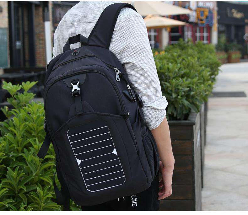 Solar Powered USB Charging Backpack