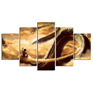 Dragon Ball Z 5-Piece Canvas Wall Art | Shenron