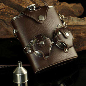 Steampunk Stainless Steel Flask