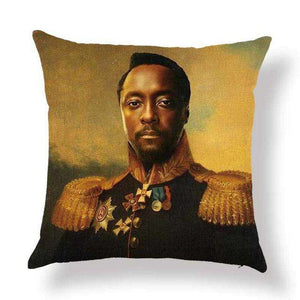 Oil Painting Inspired Celebrity Throw Pillows