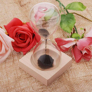Hand Blown Magnetic Hourglass
