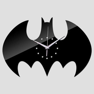 Batman Mirrored Wall Clock