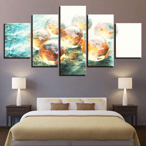 Dragon Ball Z 5-Piece Canvas Wall Art | Dragon Balls