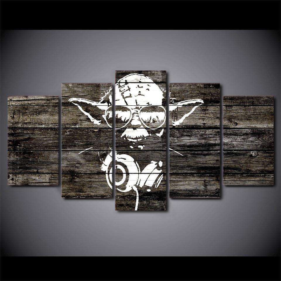 Star Wars 5 Piece Wall Art | DJ Yoda