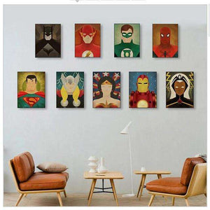 Justice League & Friends Canvas Wall Art