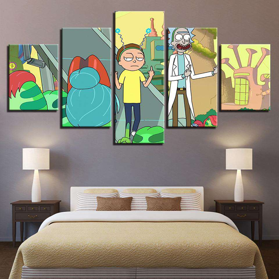 Rick And Morty Wall Art | Peace Among Worlds
