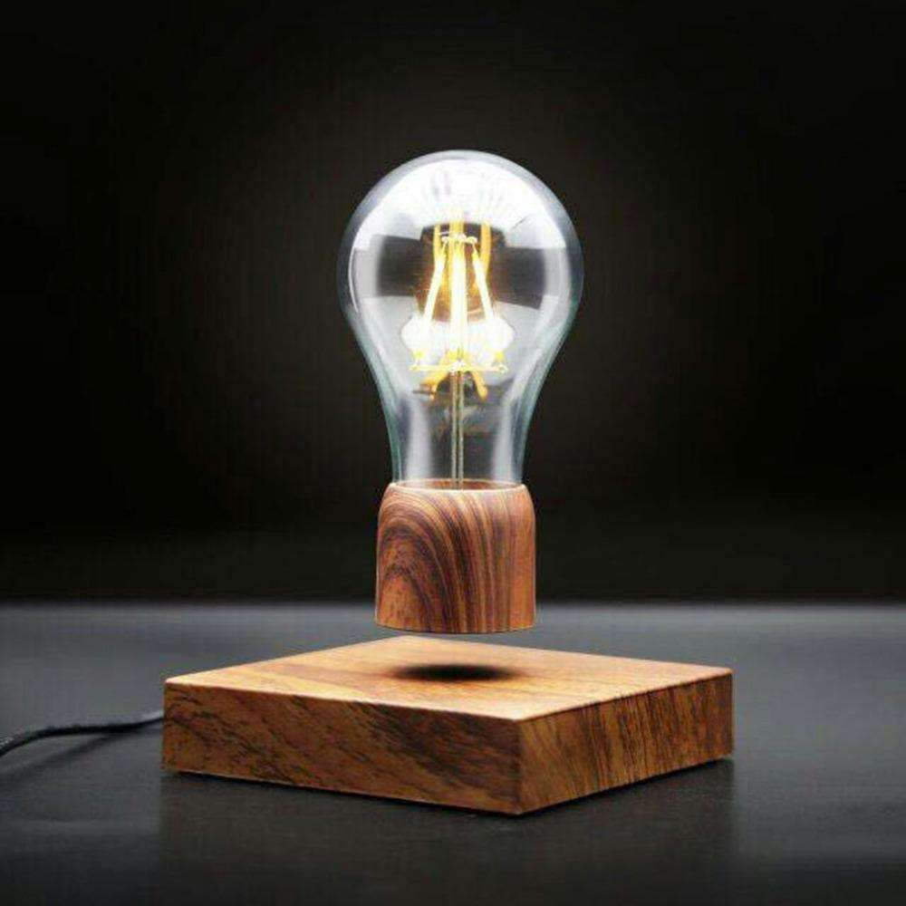 Levitating Wood Edison Lamp