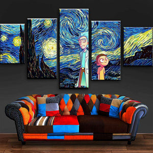 Rick And Morty Wall Art | Starry Night