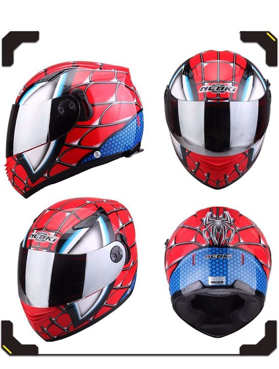 Spider Man Street Racing Motorcycle Helmet
