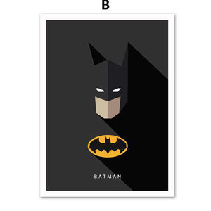 AFFLATUS Batman SuperHero Nordic Poster Wall Art Canvas Painting Posters And Prints Wall Pictures For Living Room Home Decor